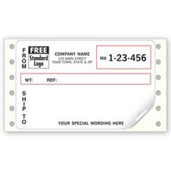 Continuous Mailing Label