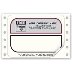 Mailing Labels, Continuous, White w/ Gray Return Area