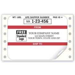Continuous UPS Mailing Label
