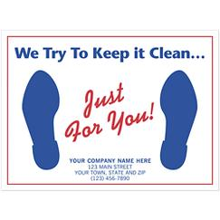 Auto Floor Mat,  We Try To Keep it Clean..., AFM01
