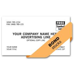 Value Business Cards, 1 or 2 ink colors, bond stock, BC500