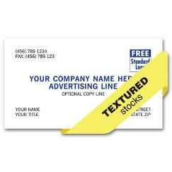 Preferred Business Cards, 1 or 2 ink colors, textured stocks, BC600