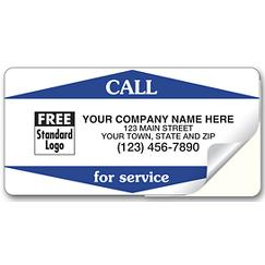 Call For Service Weather-Resistant Labels, Vinyl, CFSWR1