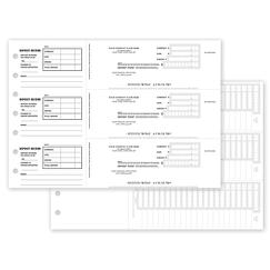 Manual 3-To-A-Page Deposit Slips, DEP005