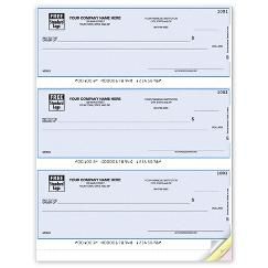 Laser 3 On a Page Checks, QuickBooks Compatible, Lined