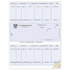 Laser Checks, Payroll, Compatible with Sage/Peachtree, DLM341