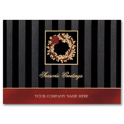 Business Holiday Cards - Dramatic Elegance