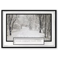 Business Holiday Cards - Snow Covered Serenity