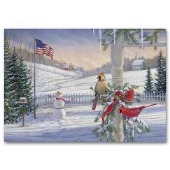 Countryside Cardinals Holiday Card