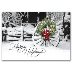 Welcoming Sight Discount Christmas Card