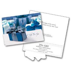 Business Holiday Cards - Packages In Blue
