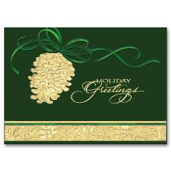 Discount Christmas Cards - Shining Pinecone