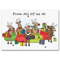 Discount Christmas Cards - Jolly Reindeer