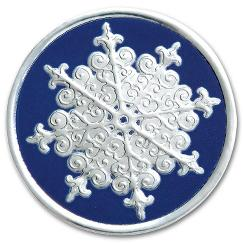 Round Snowflake Christmas Envelope Seal, H8908S
