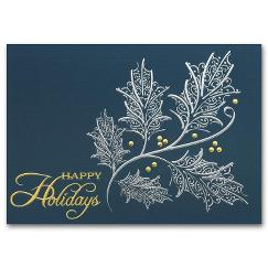 Silver and Gold Holiday Card