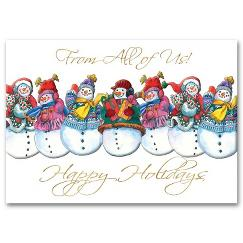 Jolly Snowmen Holiday Card