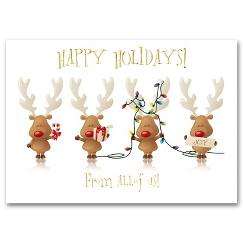 Cheery Reindeer Holiday Card