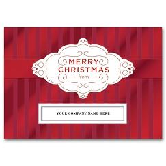 Striped Satin Christmas Card