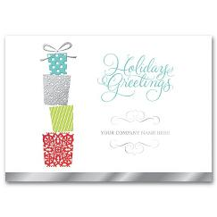 Tower of Gifts Holiday Card