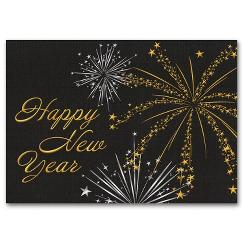 Starry Spectacular New Years Card