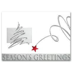 Business Christmas Cards - Silver Surprise