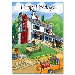 Home for the Holidays Contractor/Builder Holiday Card