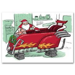 Santa's Ride Automotive Holiday Card