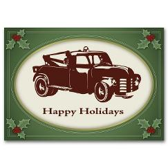 Vintage Tow Automotive Holiday Card