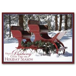 Antique Sleigh Holiday Card