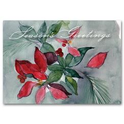 Seasonal Flora Holiday Card