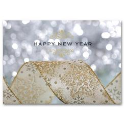 New Year Glitter New Years Card