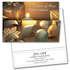 Holiday Card Coupon Card