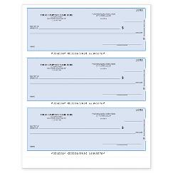 Lined 3-To-A-Page Laser Check-Quicken, QuickBooks & Others, L3CHK2