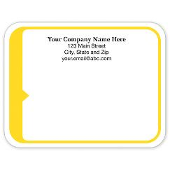 Rectangle Mailing Label w/Yellow 5x3 7/8, LABEL05