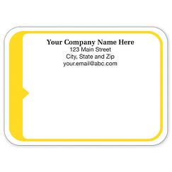 Rectangle Mailing Label w/Yellow 3 7/8 x 2 13/16, LABEL06