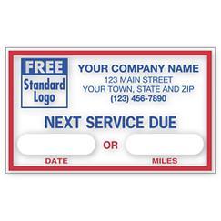 Next Service Due - Static Cling Labels, LABEL15