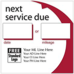 Static Cling Service Label w/Red Arc, LABEL19
