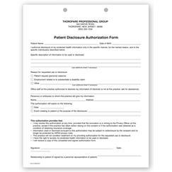 Patient Disclosure Authorization Form, MEDF04