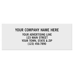 Rectangle 2 x 3/4 Paper Label