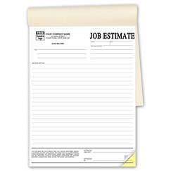 Job Estimate Book, PROP14
