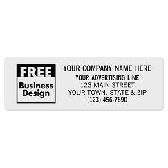 Square Corner 3 x 1 Paper Label