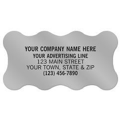Scallop Paper Label 2 x 1