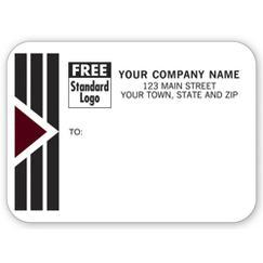 Park Avenue Mailing Labels, Rolls, w/ Black/Burgundy