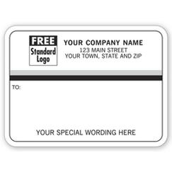 Mailing Labels, Rolls, White with Black/Gray Stripes