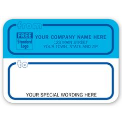 Mailing Labels, Rolls, Blue and White w/ Blue Borders