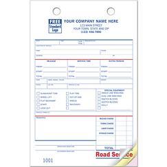 Road Service Register Form, REGFM03