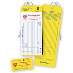 4-in-1 Repair Tags w/ Claim Check & Carbons, White, RT01