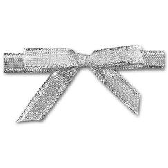 Holiday Card Accessories Silver Ribbons