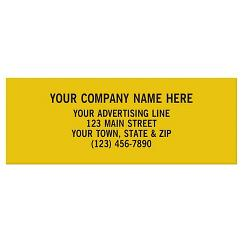 Rectangle 2 x 3/4 Polyester Label
