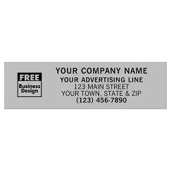 Rectangle 3 x 7/8 Polyester Label